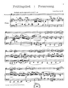 cp - Glass L. - Fruhlingslied Op.31