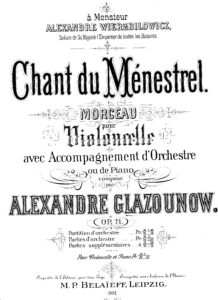 cp - Glazunov A. - Chant du Menestrel Op.71