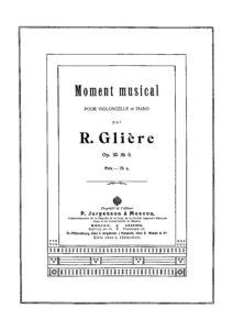 cp - Gliere R. - Moment Musical Op.35 No.5 (Jurgenson)