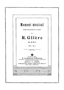 cp - Gliere R. - Moment Musical Op.35 No.5