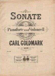 cp - Goldmark C. - Cello Sonata Op.39