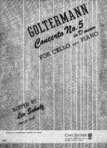 cp - Goltermann G. - Cello Concerto No.5 in D minor Op.76 (Schulz)
