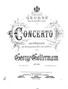 cp - Goltermann G. - Cello Concerto No.6 in D Op.100