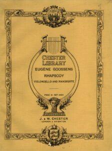 cp - Goossens E. - Rhapsody Op.13