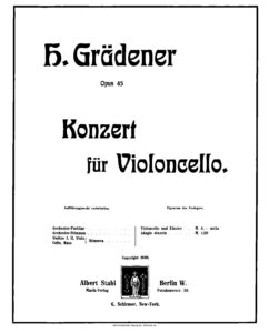 cp - Gradener H. - Cello Concerto Op.45