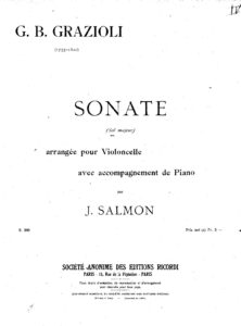 cp - Grazioli G.B. - Sonata in G Op.2 No.5 (Salmon)