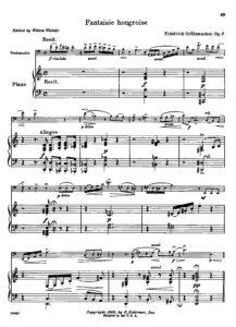 cp - Grutzmacher F. - Fantaisie Hongroise Op.7 (Willeke)