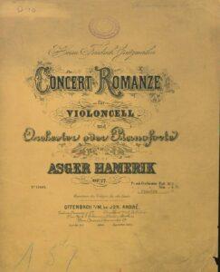 cp - Hamerik A. - Concert-Romanze Op.27