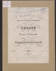 cp - Haslinger C. - Cello Sonata Op.39