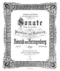 cp - Herzogenberg H. - Cello Sonata No.1 in A minor Op.52