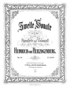 cp - Herzogenberg H. - Cello Sonata No.2 in D Op.64