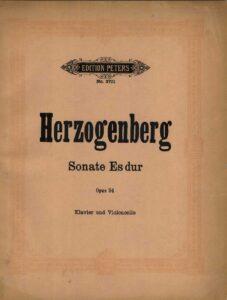cp - Herzogenberg H. - Cello Sonata No.3 in E flat Op.94