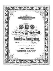cp - Herzogenberg H. - Duo Op.12