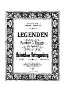 cp - Herzogenberg H. - Legends Op.62