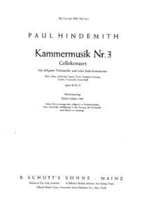 cp - Hindemith P.- Kammermusik No.3 [Op.36 No.2] (Schott)