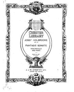cp - Holbrooke J. - Fantasie-Sonata Op.19