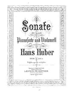 cp - Huber H. - Sonata Op.114 (Kistner)