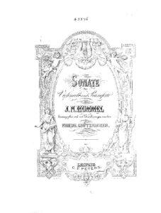 cp - Hummel J. - Cello Sonata (Grutzmacher)