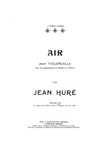 cp - Hure J. - Air for Cello and Piano