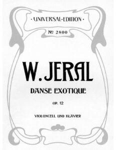 cp - Jeral W. - Danse Exotique Op.12