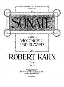 cp - Kahn R. - Sonata Op.56 (Becker)