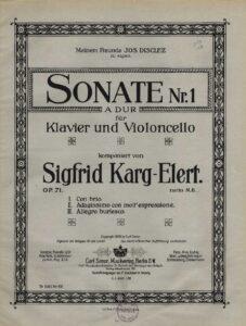 cp - Karg-Elert S. - Sonata No.1 Op.71