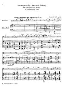 cp - Kiel F. - Cello Sonata Op.52 in A minor (Simrock)