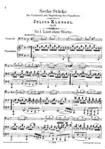 cp - Klengel J. - 6 Pieces Op.26 (No.1,2,3,5,6)