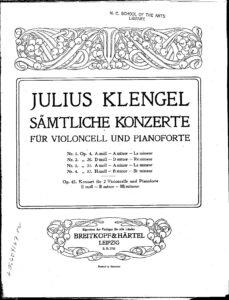cp - Klengel J. - Cello Concerto No.3 in A minor Op.31