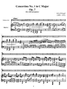 cp - Klengel J. - Concertino No.1 in C Major Op.7