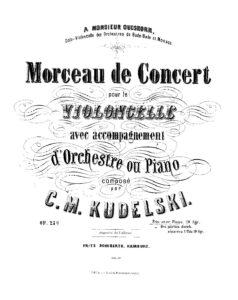 cp - Kudelski C.M. - Morceau de concert Op.27a