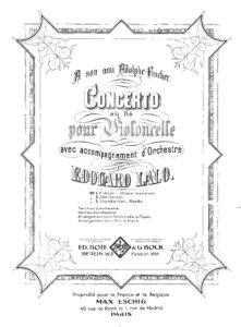 cp - Lalo E. - Cello Concerto in D minor