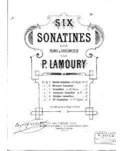 cp - Lamoury P. - Cello Sonatina No.1 Op.9