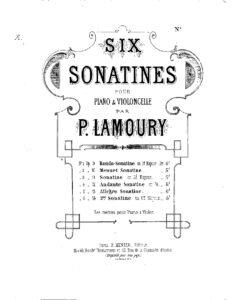 cp - Lamoury P. - Cello Sonatina No.2 Op.10
