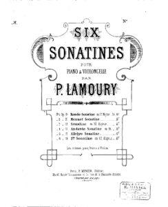 cp - Lamoury P. - Cello Sonatina No.4 Op.12