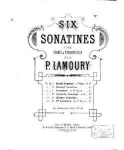 cp - Lamoury P. - Cello Sonatina No.5 Op.13