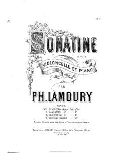 cp - Lamoury P. - Cello Sonatina Op.18