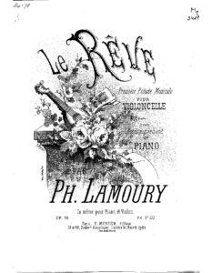 cp - Lamoury P. - La Reve Op.15