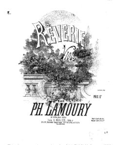 cp - Lamoury P. - Reverie in G