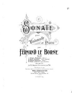 cp - Le Borne F. - Cello Sonata Op.41
