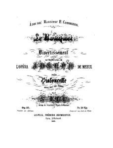 cp - Lee S. - Le Bouquet Melodies from Opera Joseph de Mehul Op.33