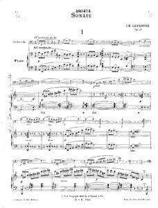 cp - Lefebvre C. - Sonata Op.98