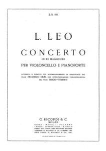 cp - Leo L. - Cello Concerto in D major (Ricordi)