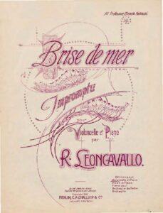 """cp - Leoncavallo R. - Impromptu """"Brise de Mer"""""""