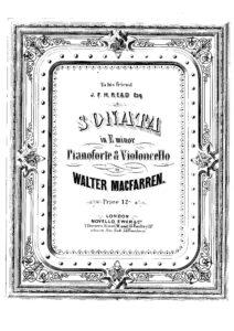 cp - MacFarren W. - Cello Sonata in E minor