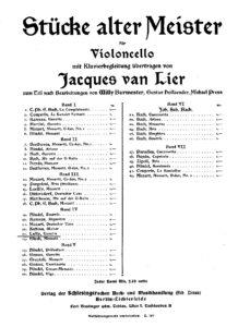 cp - Marais M. (attr. to Lully J.B.) - Gavotte (Burmester)