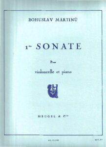 cp - Martinu B. - Cello Sonata No.1 in F minor