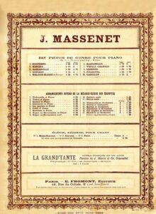 cp - Massenet J. - Elegie Op.10 No.5 (Fromont)