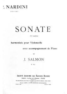 cp - Nardini P. - Sonata in C (Salmon)