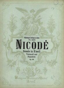 cp - Nicode J.L. - Cello Sonata Op.23